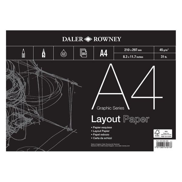 Daler Rowney Graphic Series Layout Pad 45gsm